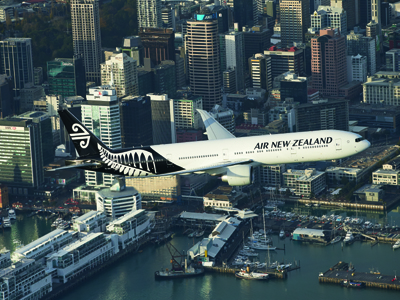 AUTH - Air NZ over city