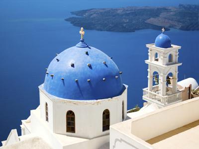Europe - Greece - Santorini - Church in Santorini