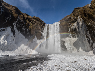 AUTH - Iceland - skogarfoss waterfall