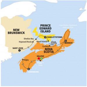 Enchanting Canadian Maritimes _ Trafalgar CAN map