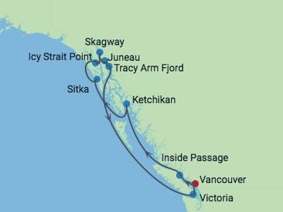 AUTH-CEL 10nts Alaska Eclipse 2019 map